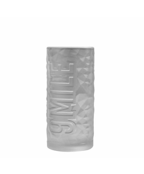 9 MILE Highball Glas frosted - Glas für Longdrinks im Milchglas Design Seitenansicht
