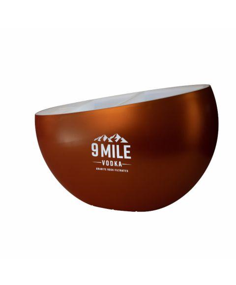 9 MILE Vodka beleuchtetes LED Serving Tool Kupfer in Premiumqualität mit seitlicher 9 Mile Logo-Anbringung