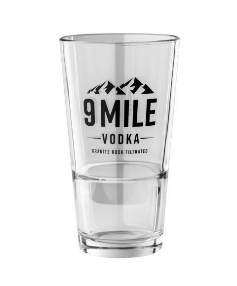 9 MILE Vodka Longdrink Glas stabelbar mit 300ml Füllvolumen