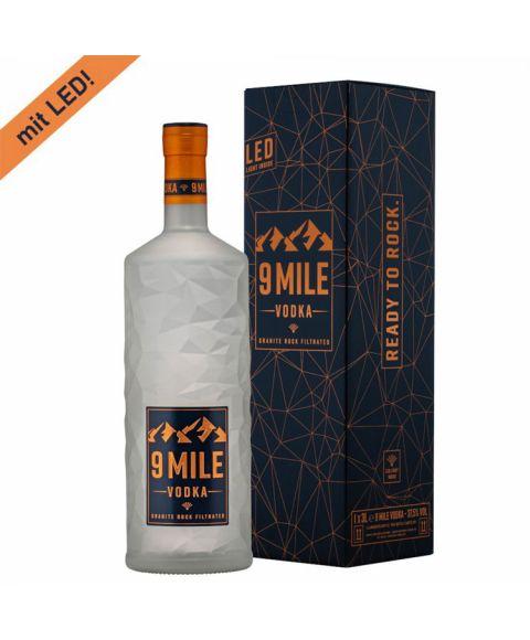 9 Mile LED Vodka große 3 Liter Flasche mit Karton