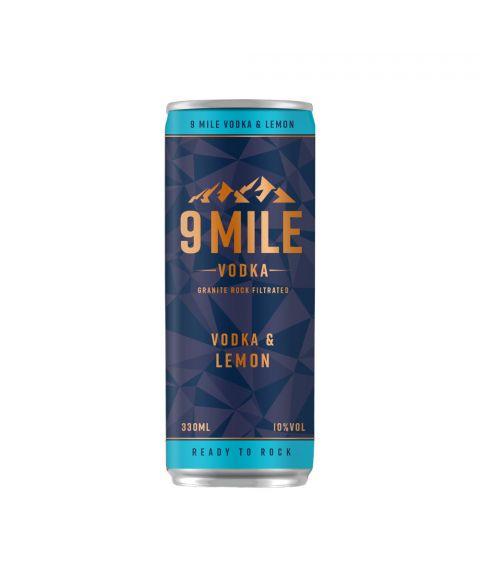 9 Mile Vodka & Lemon Premix Dose 330 ml Frontansicht 10% Alkohol