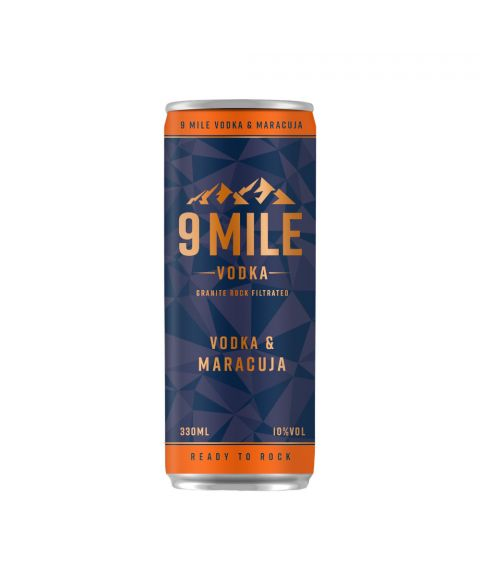 9 Mile Vodka & Maracuja Premix Dose 330 ml Frontansicht 10% Alkohol