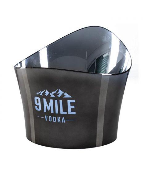 9 Mile Flaschenkühler rund mit Chromoptik und LED Beleuchtung