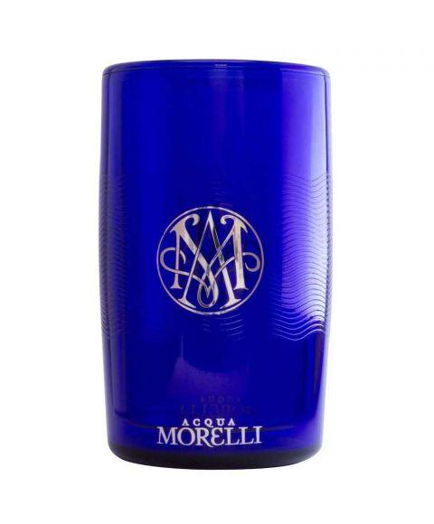 Acqua Morelli Flaschenkühler mit Monogramm und Logo in blau.