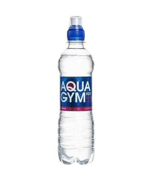 AquaGym koffeinhaltiges, stilles Wasser in einer 0,5l PET Flasche mit Sportscap Verschluss.