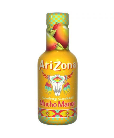 AriZona Cowboy Cocktail Mucho Mango Eistee in einer 0,5l PET Flasche.