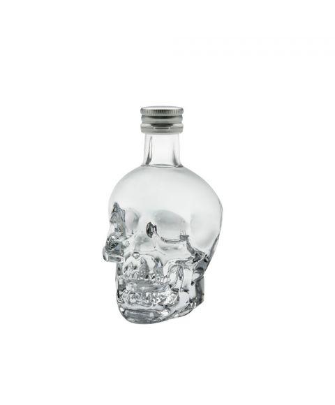 Crystal Head Vodka in der 50ml Miniaturflasche im Totenkopfdesign mit Schraubverschluss