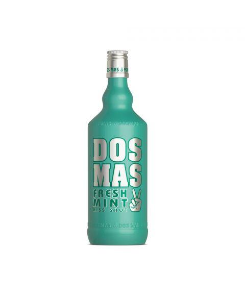 DOS MAS Fresh Mint Kiss Shot 0,7l in stylischer grüner Glasflasche