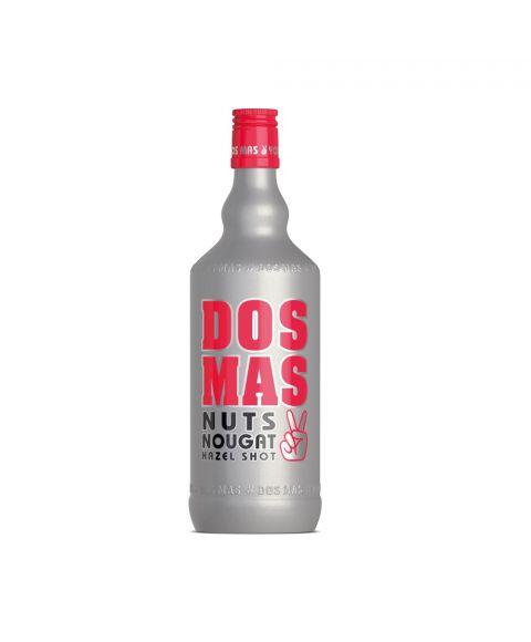 DOS MAS Hazel Shot in einer silbernen 0,7l Flasche die hervor sticht durch pinke Highlights.