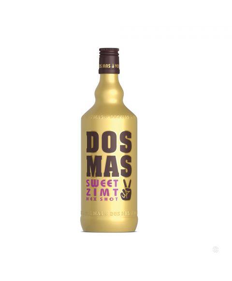 DOS MAS Mex Shot Sweet Zimt Likör abgerundet mit Tequila in einer goldenen 0,7l Flasche.