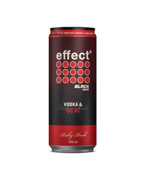 effect Black Acai Energy Drink mit 9 Mile Vodka in 330ml Dose Ruby Rock vorgemischt.