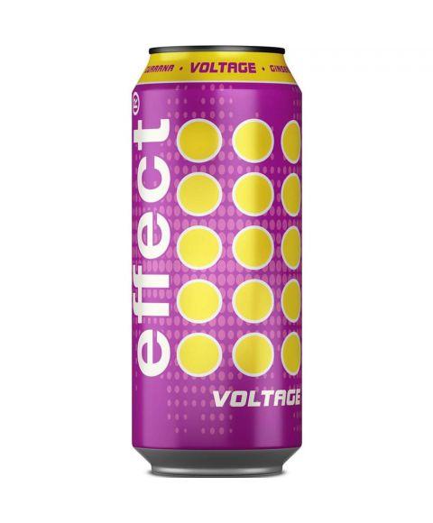 effect® VOLTAGE pink-gelbe 0,33l + 50% Inhalt Dose deren Inhalt elektrisiert.