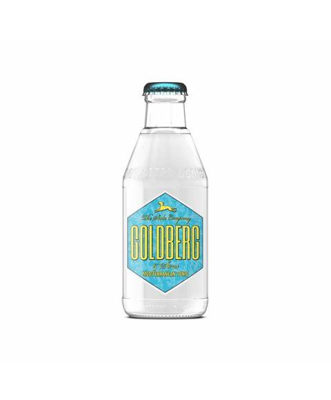 Goldberg Mediterranean Tonic Water in 200 ml Glasflasche mit hellblau-pastellgelben Etikett