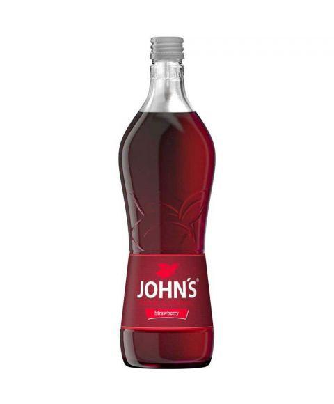 Johns Erdbeersirup zur Cocktailzubereitung in 0,7l Glasflasche