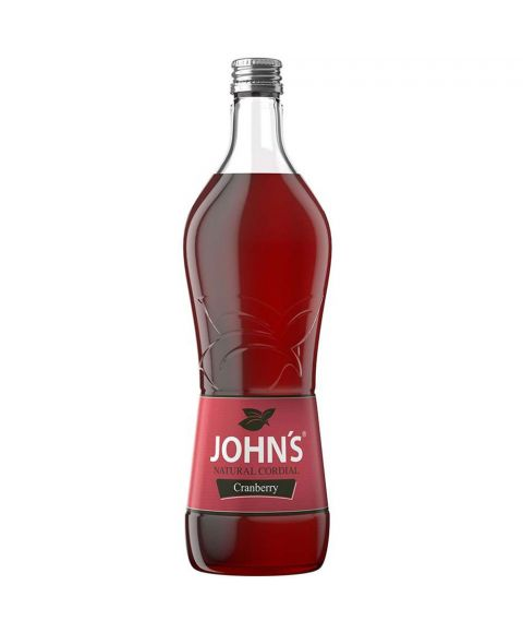 John´s Cranberry Sirup Cocktail Mixer in 0,7L Glasflasche