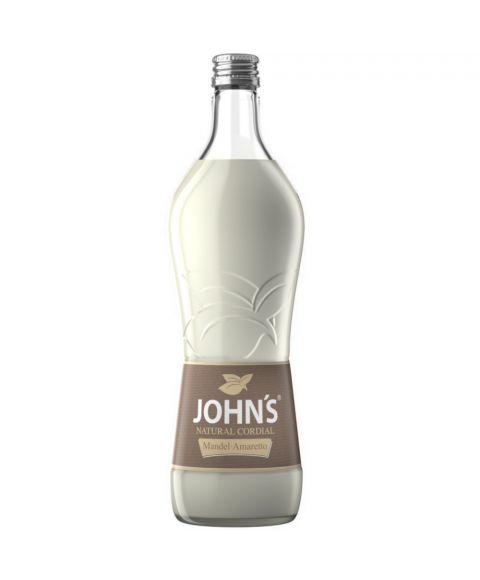 JOHN'S Mandel-Amaretto Sirup zur Cocktailzubereitung in 0,7l Glasflasche