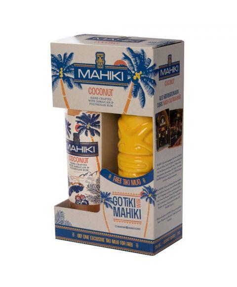 Mahiki Coconut Rum mit Tiki Becher im Geschenkkarton