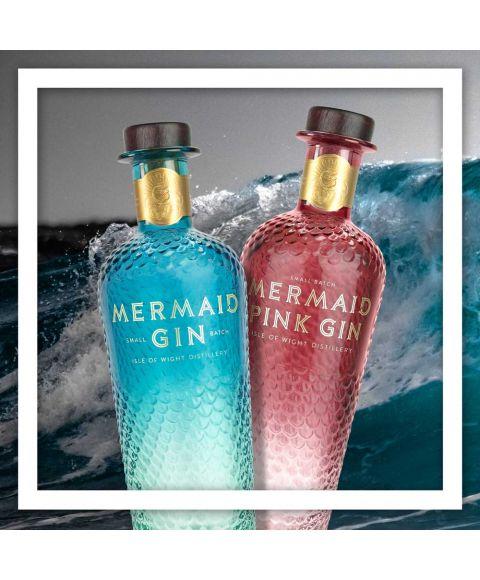Mermaid Gin im Doppelpack. Pink Mermaid Gin und Classic Mermaid Gin 700ml online kaufen