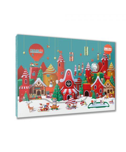 Novado Adventskalender mit 24 Überraschungen von MBG Marken wie SALITOS, Scavi & Ray, Dos Mas, Goldberg und vielen mehr.