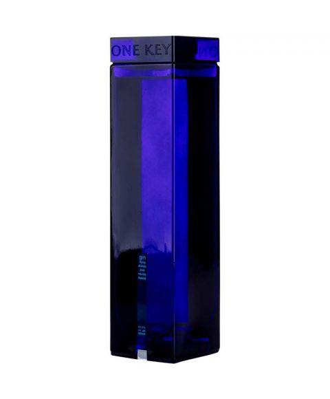 One Key Gin Geschenkflasche in hochwertigem blauem Gefäß mit Schlüssel 0,7l Flasche