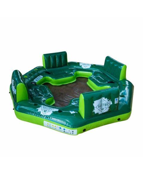 Salitos Badeinsel in grün und weiß für 4 Personen inklusive Getränkehalter und Rückenlehne