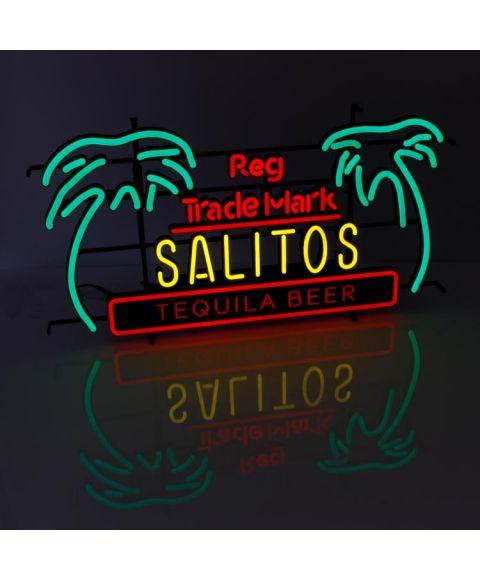 Salitos Neon Sign Tequila Beer Palmen