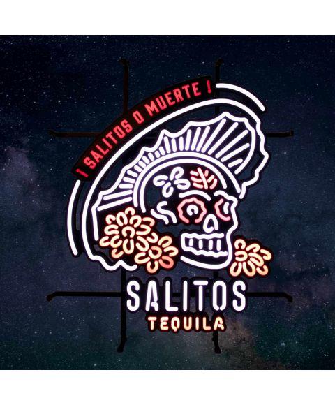 Salitos LED Neon Sign Muerte Tequila Leuchtreklame Leuchtschild