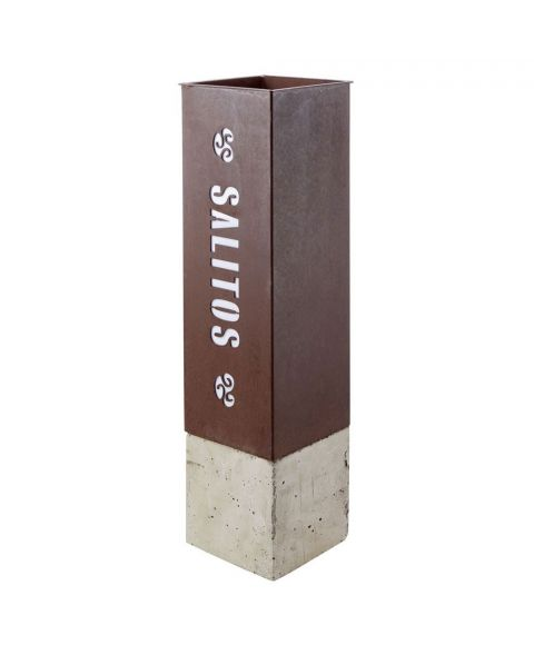 Salitos Rusty Standaschenbecher aus Edelstahl für den In- & Outdoor Bereich