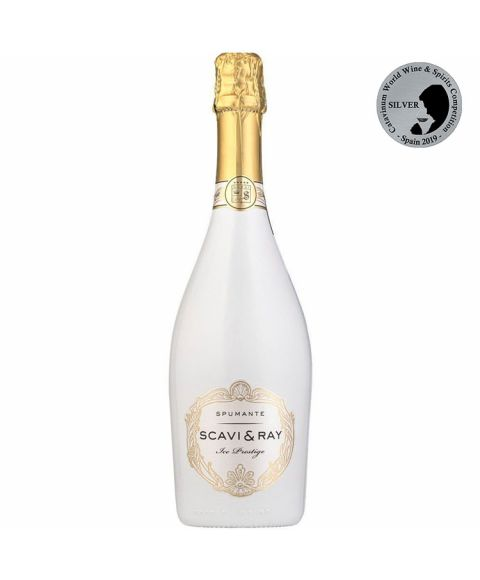 SCAVI & RAY Ice Prestige Schaumwein in der weiß-goldenen 750 ml Flasche