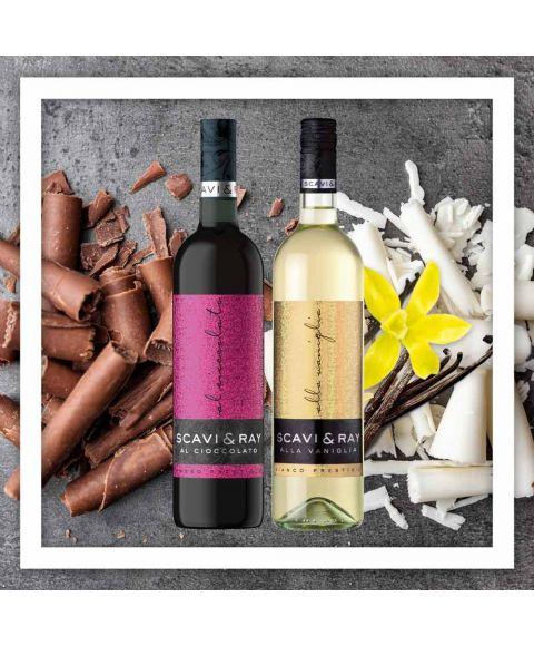 SCAVI & RAY Al Cioccolato Schokoladen-Wein und SCAVI & RAY Alla Vaniglia Vanille-Weißwein vereint in einem günstigen Bundle online bestellen