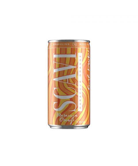SCAVI 200ml Maracuja Orange in Dose mit orangenem Wellendesign