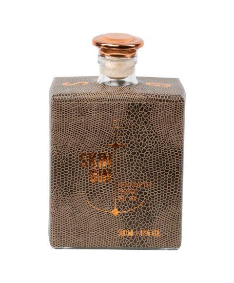 Skin Gin Reptil Braun Edition Handcrafted German Dry Gin 42% VOL. Flasche Vorderseite