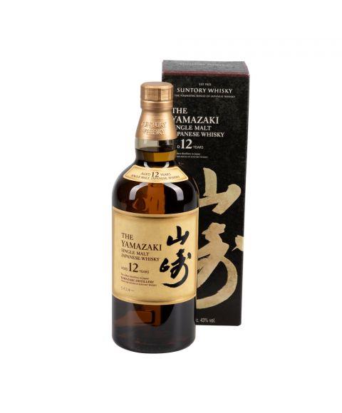 Seltener Yamazaki Single Malt Japanese Whisky 0,7L 12 Jahre gereift in Geschenkverpackung.