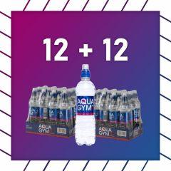 AQUAGYM Koffeinwasser 0,5L 24 Flaschen zum Preis von 12