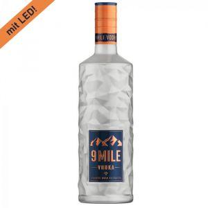 9 MILE Vodka 1,0L Flasche mit LED Beleuchtung
