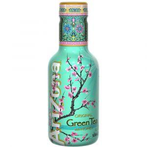 AriZona Green Tea Honey Eistee in einer 0,5l PET Flasche.