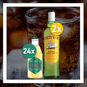 Cutty Sark Whisky günstiges Produkt Set mit 24x Goldberg Ginger Ale