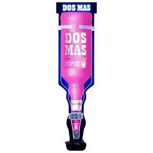 DOS MAS 3L LED Wandhalterung mit Flasche Pink Shot