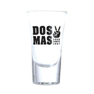 DOS MAS Shotgläser 6 Stück mit DOS MAS Logo verziert