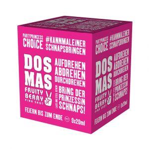 DOS MAS Pink Shot im praktischen 9x0,02l Partywürfel.