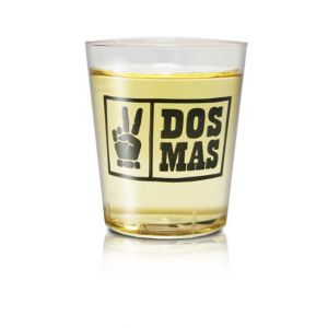 DOS MAS Shotbecher aus Plastik mit DOS MAS Logo