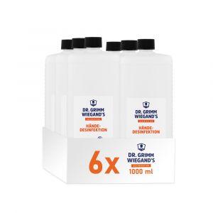 Dr. grimm Wiegand Desinfektionsmittel in 1L Vierkantflasche im 6er Karton - auch für Säulen Ständer zu nutzen.