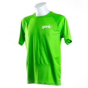 Grünes Sportshirt von Ganic Vitaminwater Vorderseite