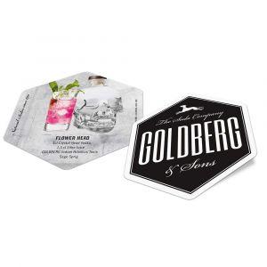 Goldberg Bierdeckel mit Cocktail Rezept Flower Head