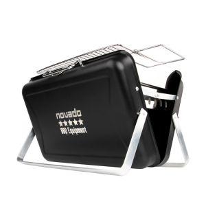 novado Premium Holzkohle Koffer-Tisch-Grill [BBQ Equipment] Produktfoto auf weißem Hintergrund.
