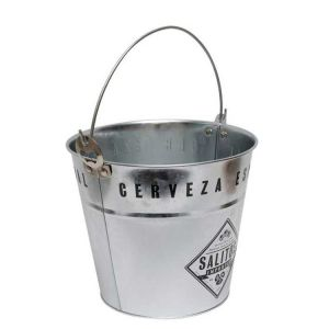 SALITOS Ice Bucket aus Metall mit Salitos cerveza branding