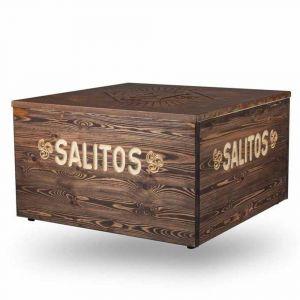 Salitos Lounge Tisch 80x80 cm im rusty Design 2 Wahl