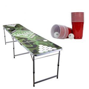 Salitos klappbarer Beer Pong Set mit Tisch, Bällen und Bechern