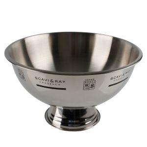 SCAVI & RAY Silver-Bowl Frontansicht Edelstahl Schale zum Anrichten von Prosecco und Wein