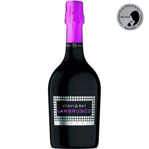 SCAVI & RAY Lambrusco Wein in 0,7l Flasche (lila) mit Kohlensäure
